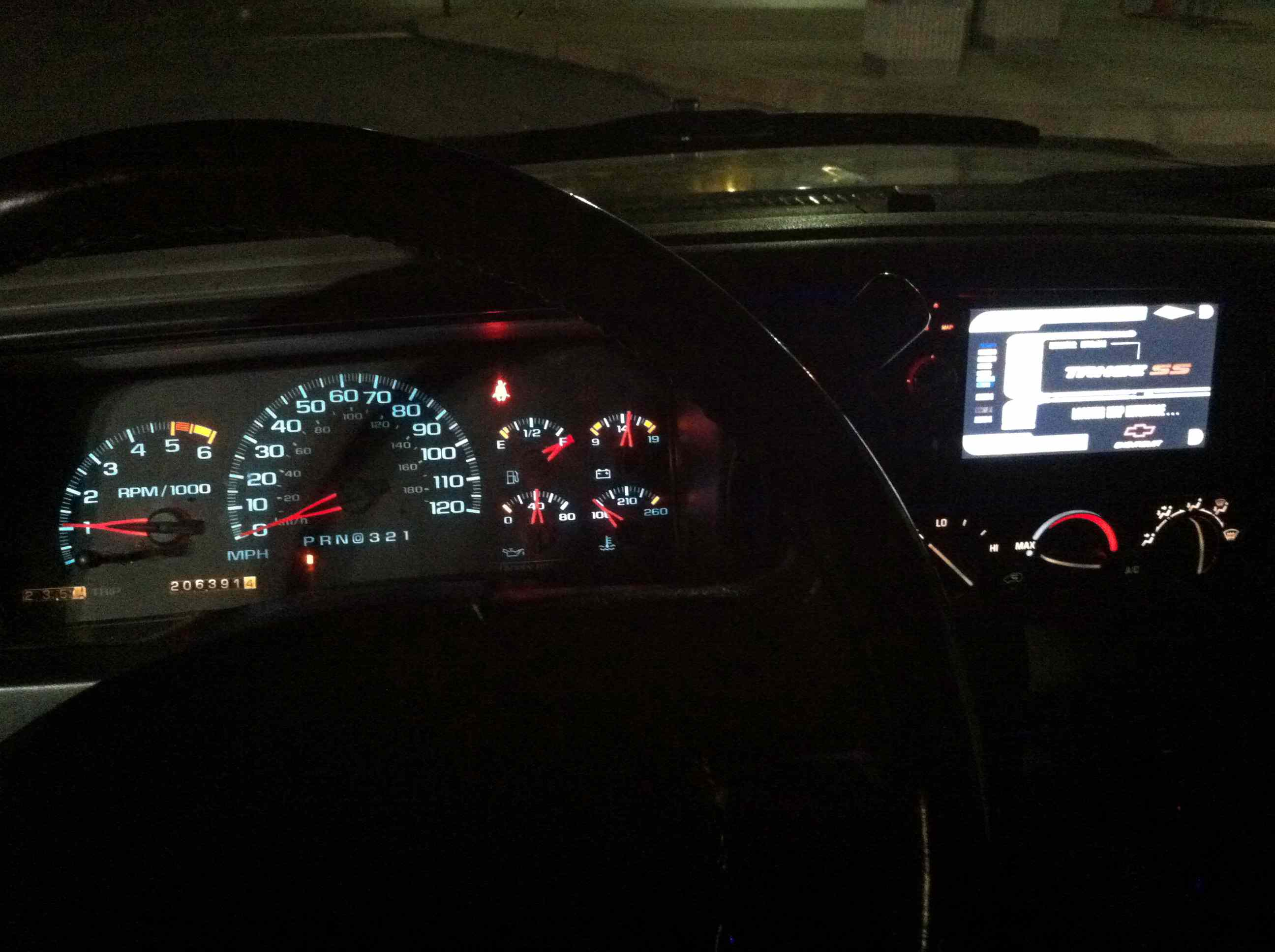 Double DIN Nav install in 95-99 Chevy Tahoe